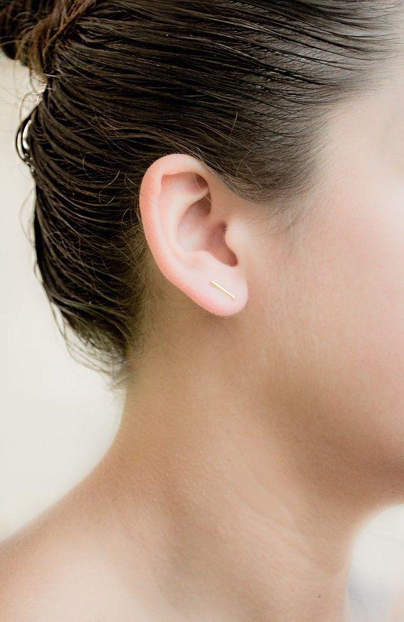 Bar Stud Earrings,  Gift for Her, stud earrings