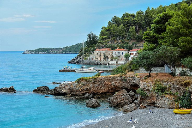 like a painting in a secret cove of Myrtoo sea  Kyparissi