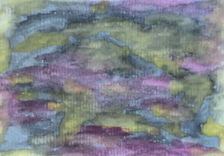 New art for sale! ACEO Trading Card Watercolor Painting Abstract Folk Outsider Autistic Naive Art #OutsiderArt #artists