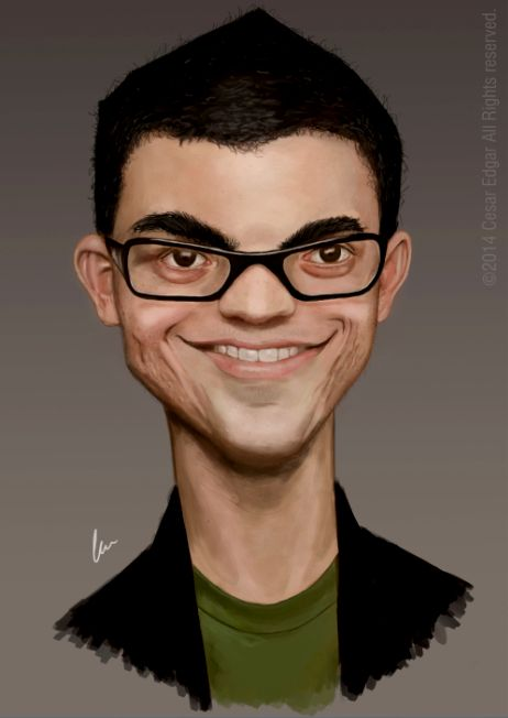 Caricature of Marco Gomes