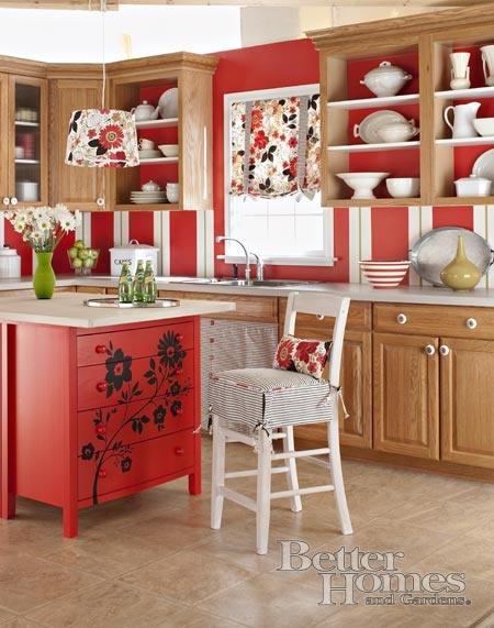 Red Kitchen. Die KücheKommoden InselKommodenArbeitsplatteDiy ...