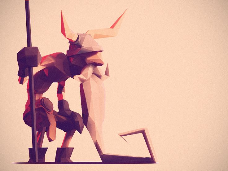 Low Poly Viking 2 by Jona Dinges
