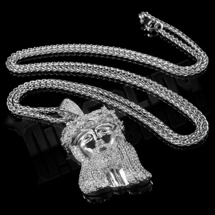 Nice Amazing 18k White Gold JESUS PIECE Iced Out Simulated Diamond Hip Hop Wheat Chain  2017-2018 Check more at http://24store.ml/fashion/amazing-18k-white-gold-jesus-piece-iced-out-simulated-diamond-hip-hop-wheat-chain-2017-2018/