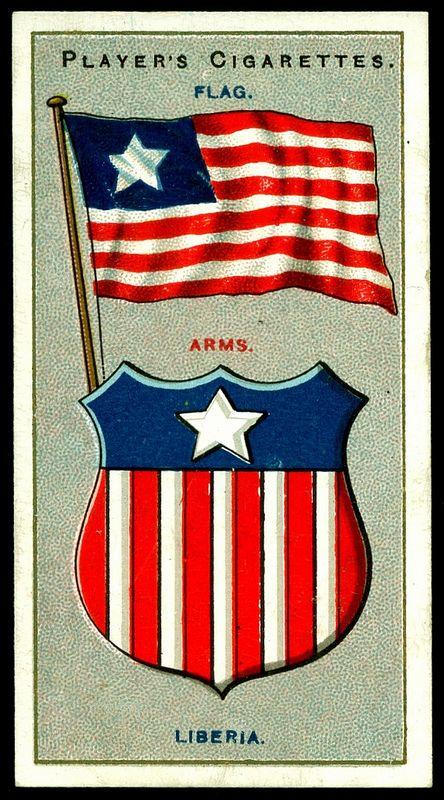 Cigarette Card - Arms & Flag of Liberia