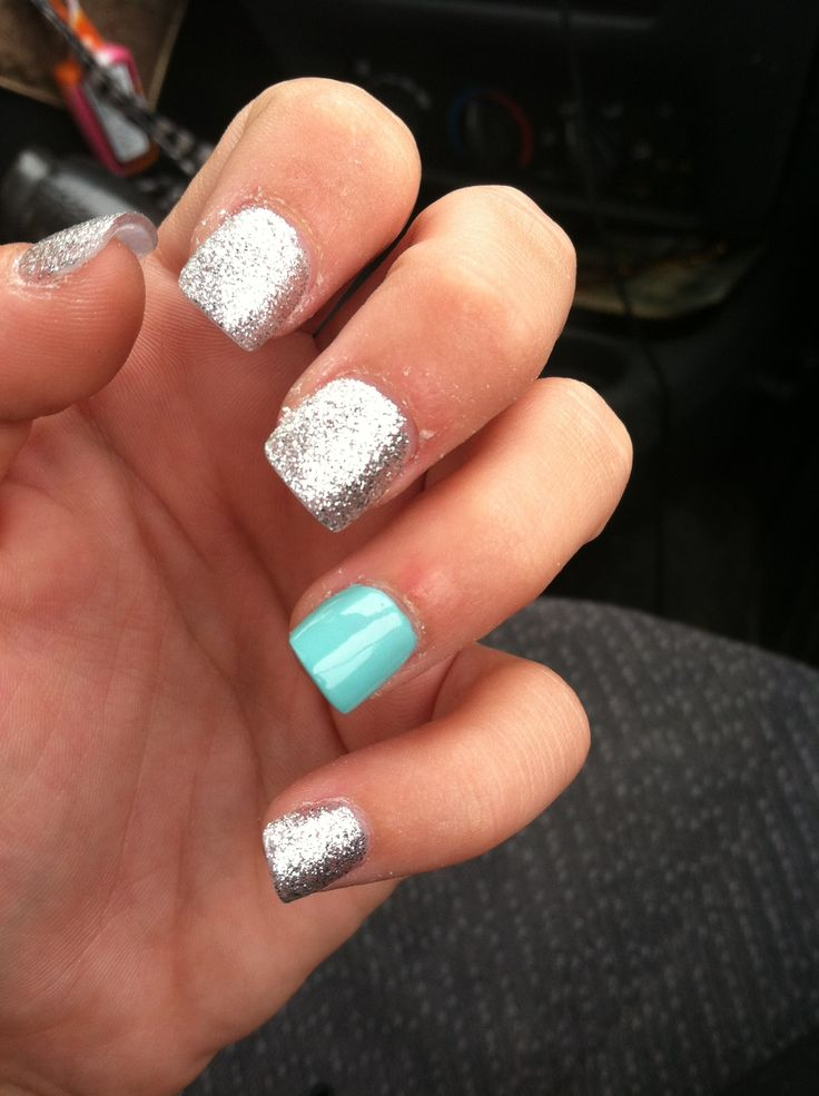 Prom nails..yellow instead of blue? :)