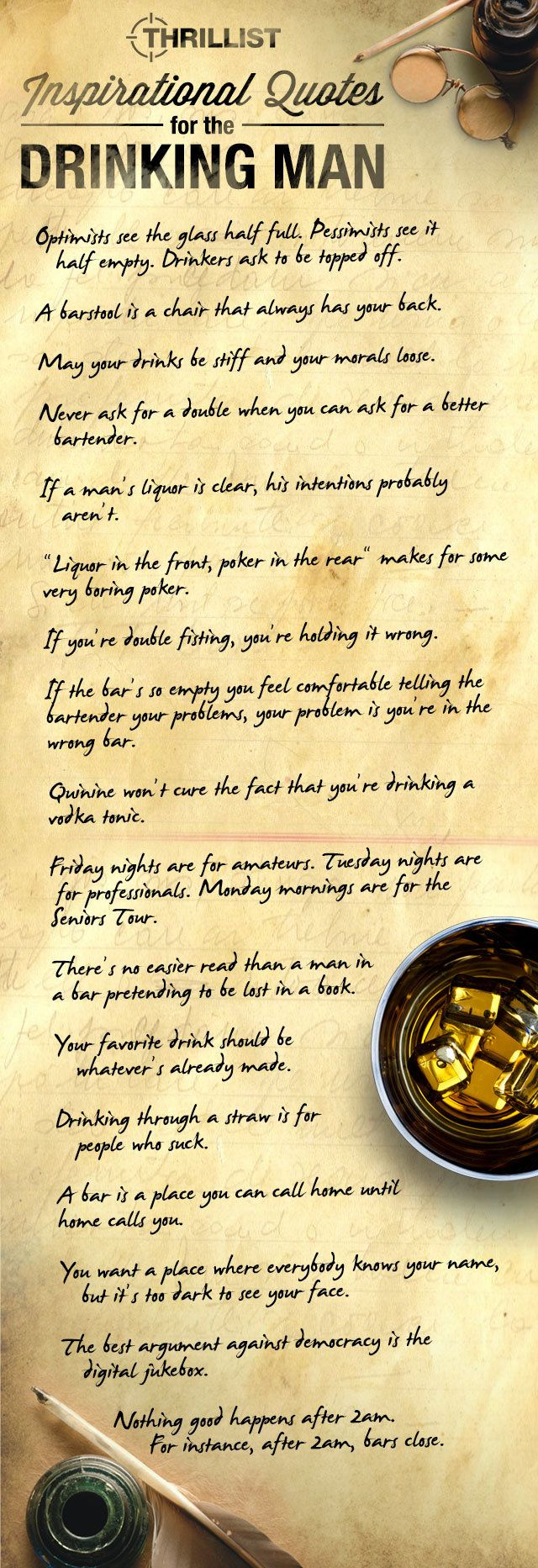 Quotes About Drinking - 16 New Quotations for the Drinking Man - Thrillist Nation