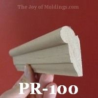 How to get picture rail molding | PR100 classic ogee profile | Traditional, Victorian, Craftsman www.thejoyofmoldings.com/pr-001_picture-rail-molding/
