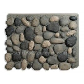 Brook River Rock Faux Rock Panels - Boulder Gray