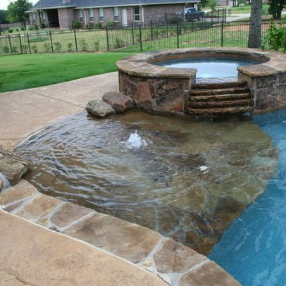 652 best images about swimming pools hot tubs water falls for Walk in pool designs