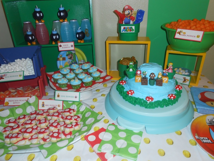 Super Mario Party Treat Table