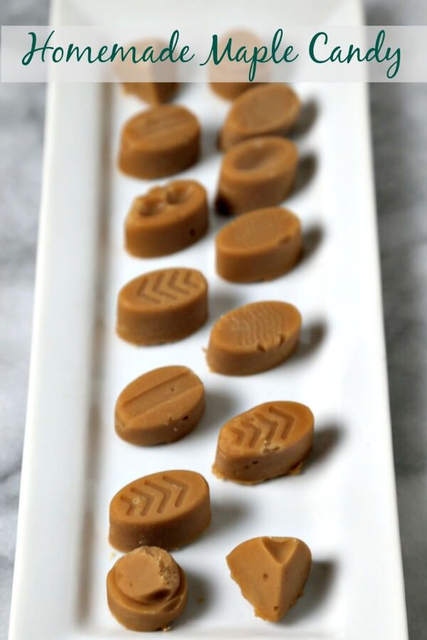 Homemade Maple Candy from CookingInStilettos.com is made from scratch with just one ingredient and perfect for the holidays. This sweet treat will be a favorite with family and friends.