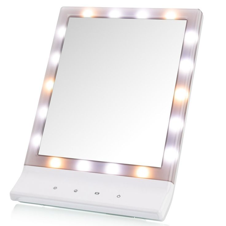 LED Lighted Makeup Mirror - DeWEISN Lighted Vanity Makeup Mirror, Smart Touch Cosmetic Mirror with Warm/Natural/Cool Lights (18 LED) , Wall Mounted Make Up Mirror, Countertop Makeup Mirror. 3 Modes Illumination Setting - Mixed Light,Warn Light, Cold Light, Each Setting is Designed with Color-corrected Lighting that will Match Daytime, Evening, Home or Office Environments.The fluorescent lighting on this Cosmetic Mirror is Glare Free for You.Premium eye-care LED light, gives our light…