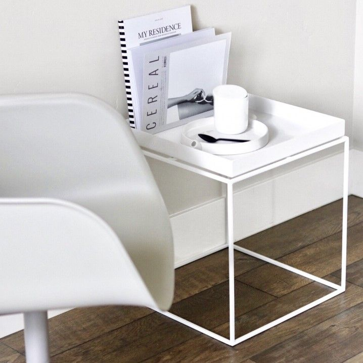Hay Tray Side Table.Hay Tray Side Table White 40x40 Cm White Side Tables