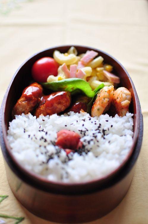 日本人のごはん/お弁当 Japanese bento box 具沢山日の丸弁当