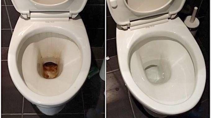 La cuvette des toilettes s'encrasse et s'entartre très rapidement.Les produits décapants du commerce, comme Harpic, coûtent cher et sont particulièrement