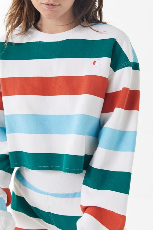 b1134b74f Slide View: 4: Champion & UO Rainbow Stripe Cropped Sweatshirt Size ...