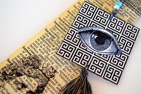 Greek Key Ornamental Bookmark Bookmark Collector Handmade