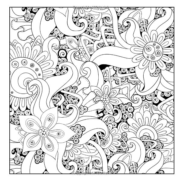 ethnic floral zentangle doodle background pattern in vector henna paisley doodles design tribal design element flores y frutas 09 colorear - Coloring Book Amazon