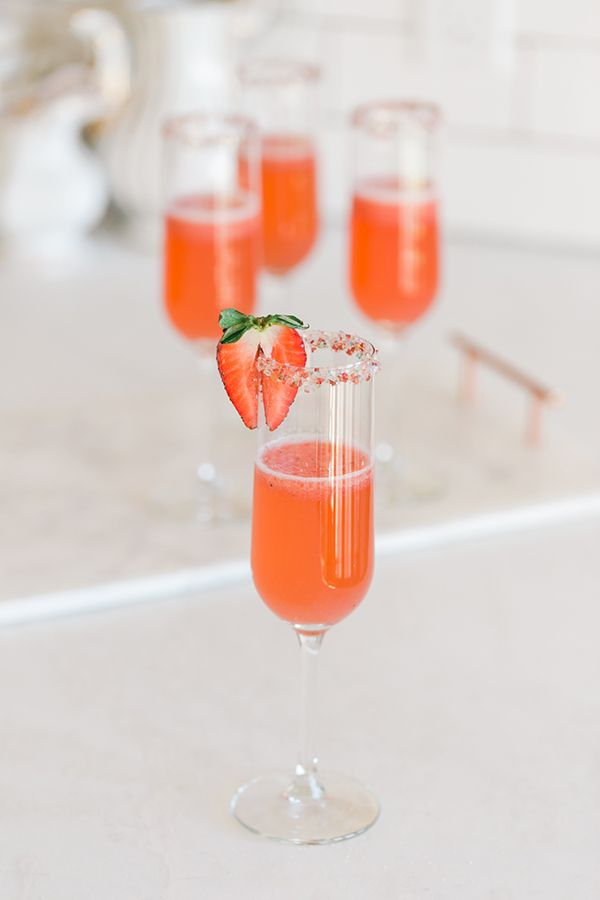 Lovely Libations: Strawberry Rosé Champagne Cocktail Recipe | Lauren Conrad
