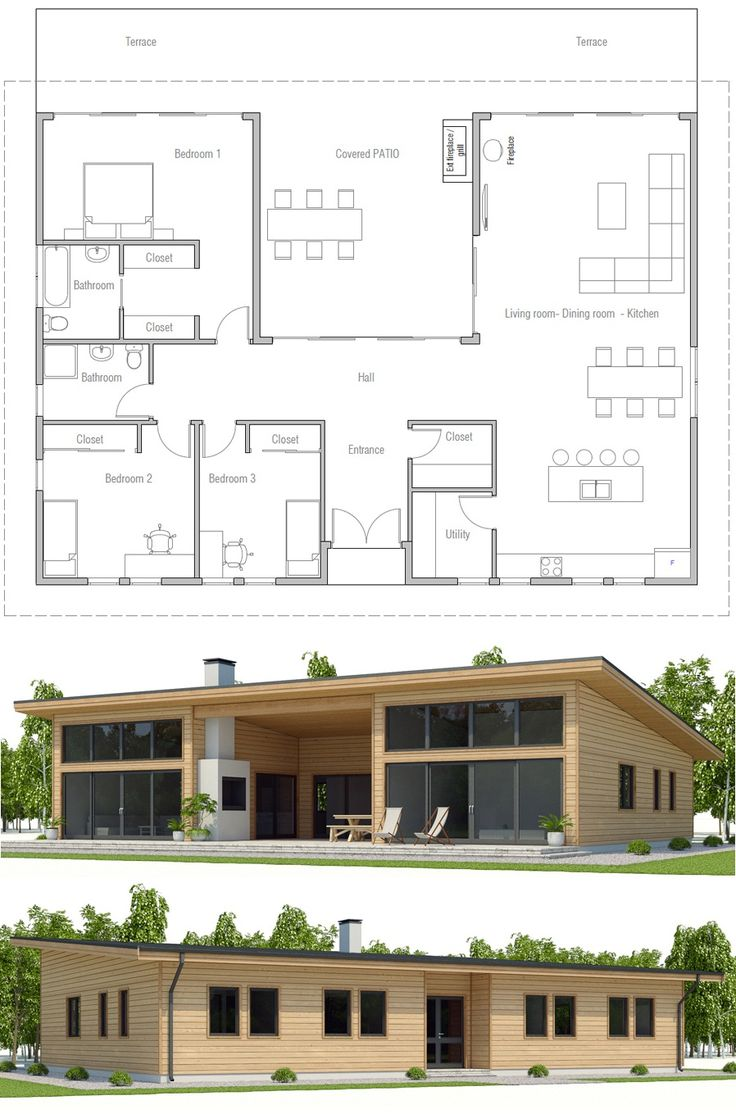Container Home Plan, Floor Plan, Shipping container house plan
