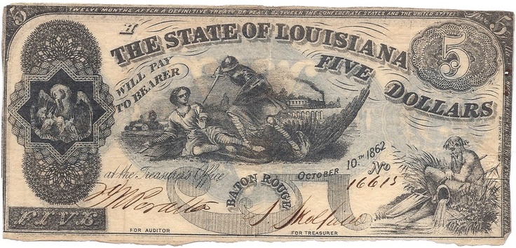 Shreveport Louisiana Confederate Money State Of La 5
