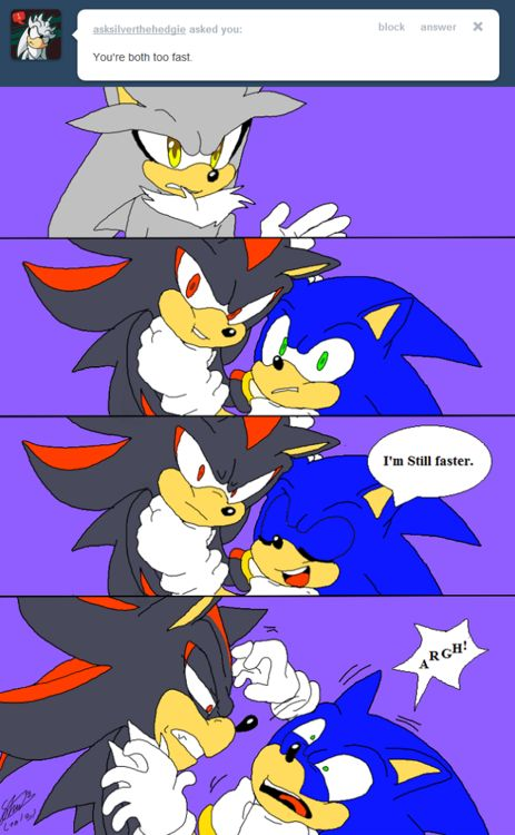 Sonic Shadow Silver Funny Comics