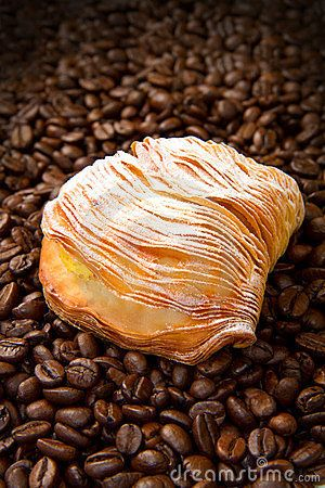 Dessert with coffee beans