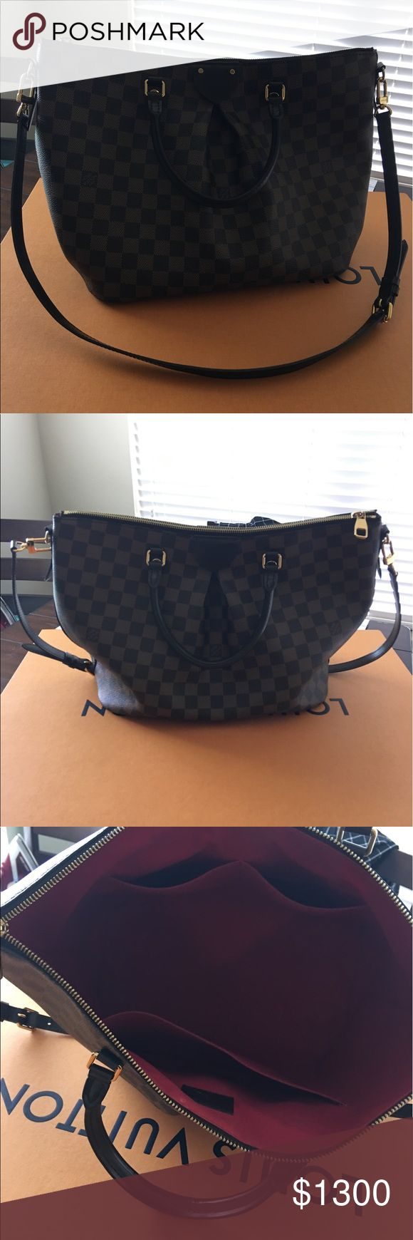 SEINA MM LOUIS VUTTION Perfect condition, brown checkered. Has long strap. Louis Vuitton Bags Shoulder Bags