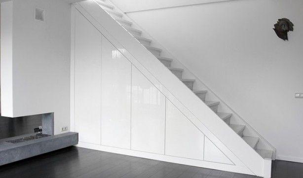 strakke opbergkast onder de trap
