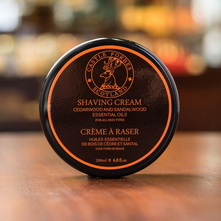 Essential oils are part of the formulation of Castle Forbes shaving creams. Sandalwood and cedar are among the specially formulated ingredients that can act as natural antiseptics.