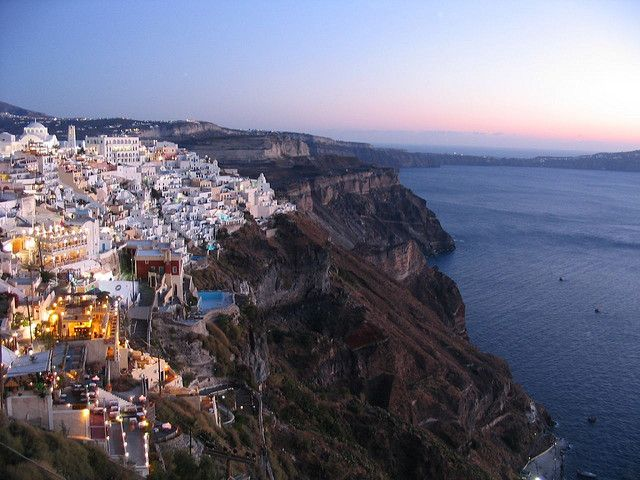 party with the Greeks in Santorini, Greece