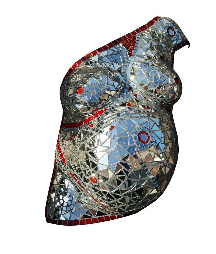 Gewoon mooi! Een mozaiek kunstwerk van de zwangerschap.