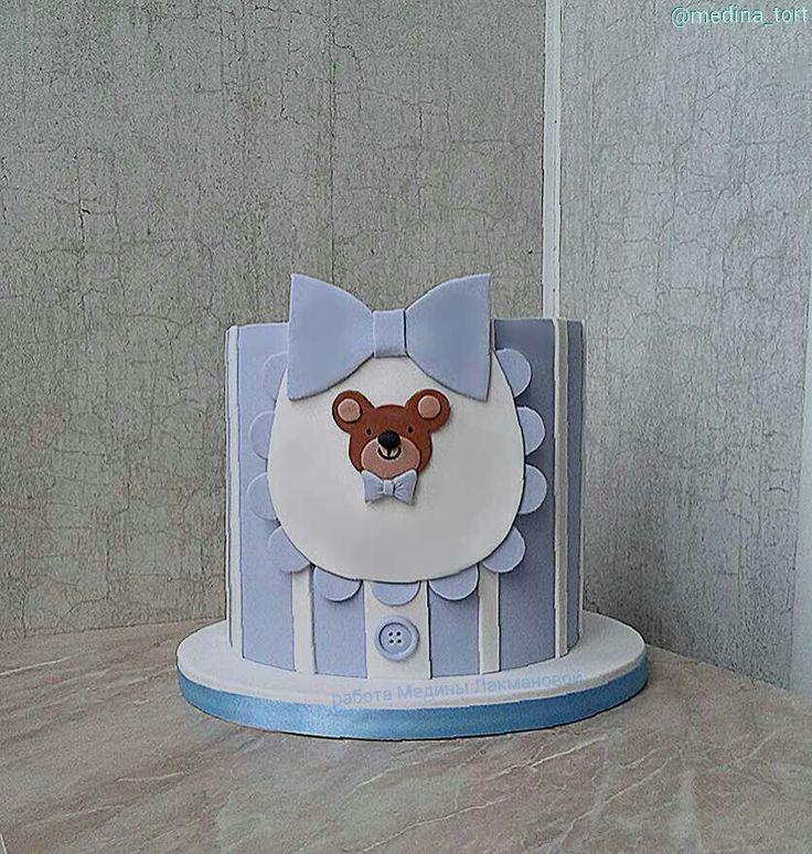 торт на годик; в инстаграмме - @medina_tort