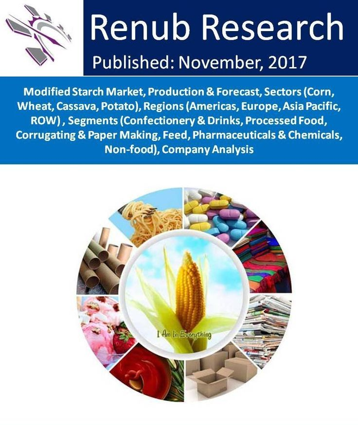 """Modified Starch Market will exceed US$ 13 Billion by the end of year 2024. On the basis of raw materials, the modified starch market is segmented as Corn, Wheat, Cassava and Potato. Renub Research report titled """"Modified Starch Market, Production & Forecast, Sectors, Regions, Segments, Company Analysis"""" studies the global modified starch market and production."""