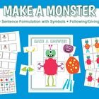 This Make a Monster Activity Pack is so versatile! Work on pronouns (my/your), formulating sentences (picture symbols and sentence stems included!)...
