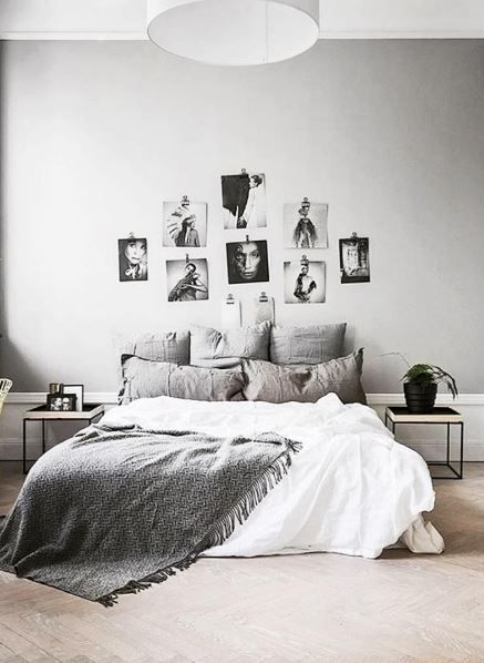 Simple hung up pictures. More