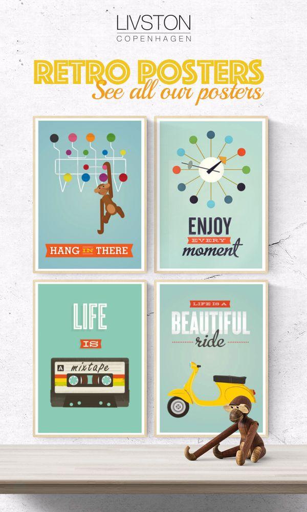 Vi elsker retro plakater