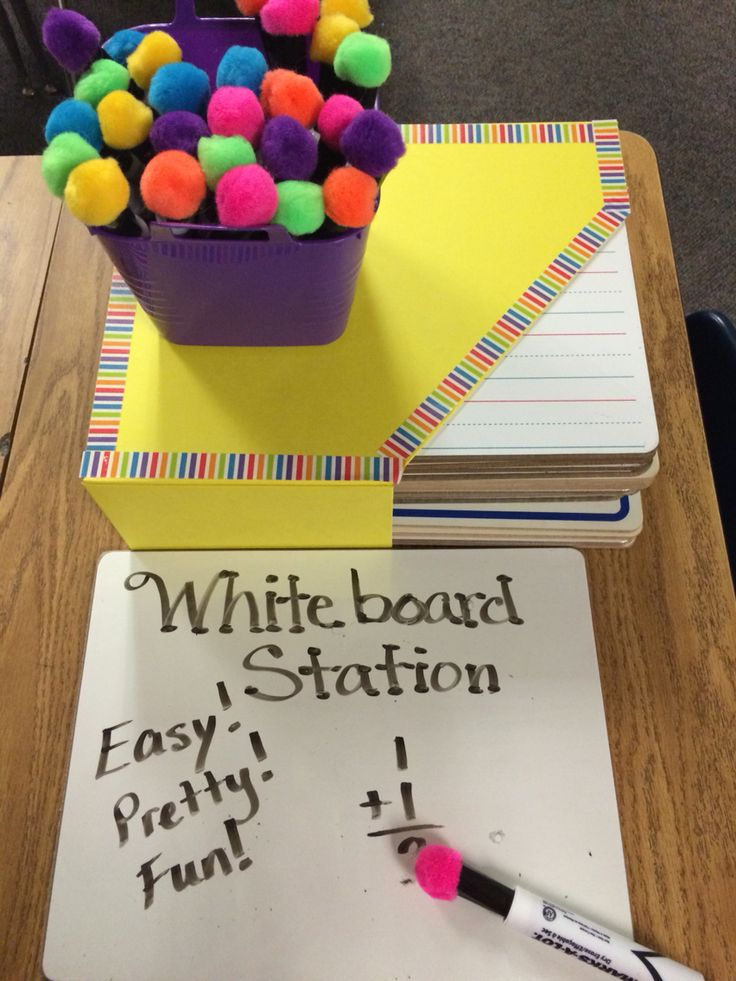 Whiteboard Station Colorful and Efficient! Hot glue ...