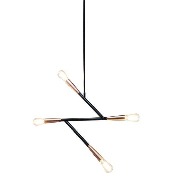 Čierne stropné svietidlo Kare Design Monte Carlo
