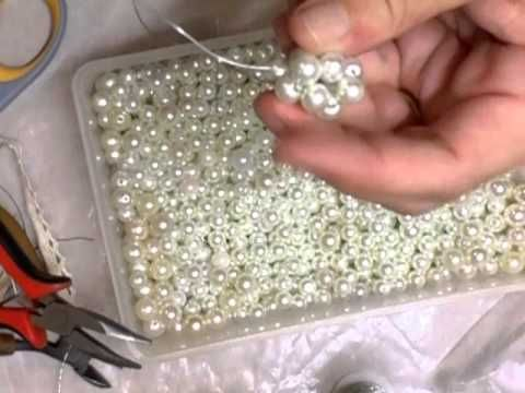 How to make a pearl beaded bead Tutorial - jennings644