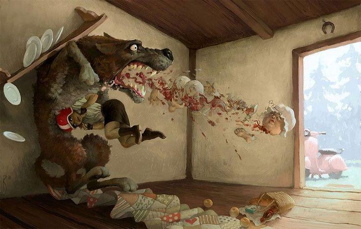 Przytłaczające obrazy rosyjskiego grafika zaglądające w najmroczniejsze zakątki duszy - Joe Monster