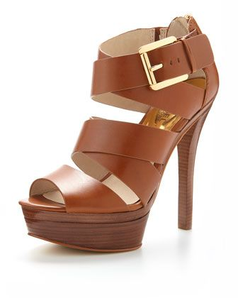 Axton Leather Platform Sandal by MICHAEL Michael Kors at Neiman Marcus....size 5.5 please!!!  ;)