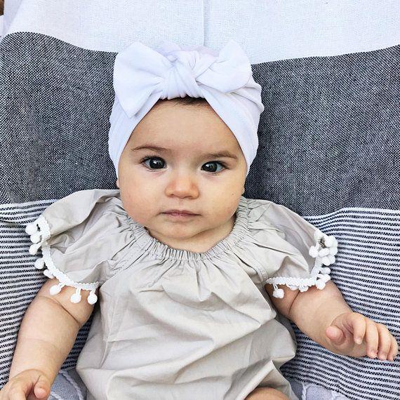 SWIM White hat : baby swim hat, baby swim turban, baby sun