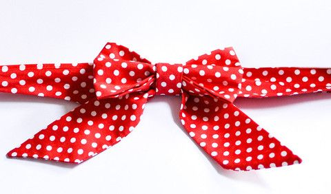 Red Polka Dot - Handmade Sailor Tie