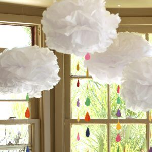 Learn how to make tissue paper clouds and shower someone special with these amazing party decorations.