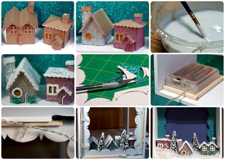 Best 25+ DIY Christmas village houses ideas on Pinterest