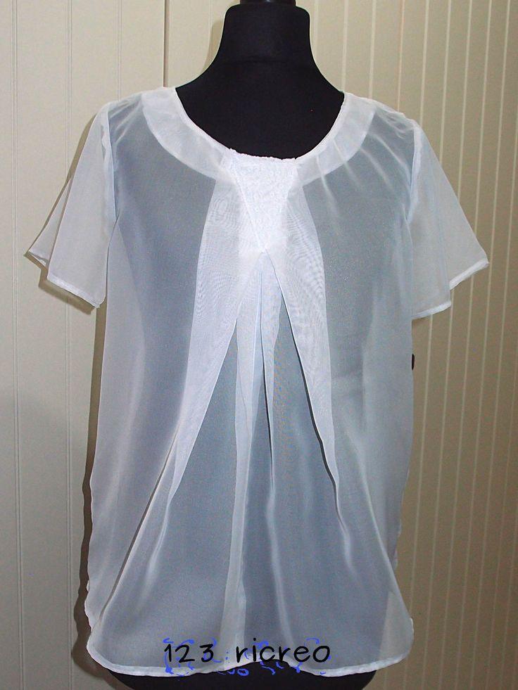 #Blusa in chiffon davanti fai da te - Come si fa l'orlo a tessuti trasparenti - 123ricreo