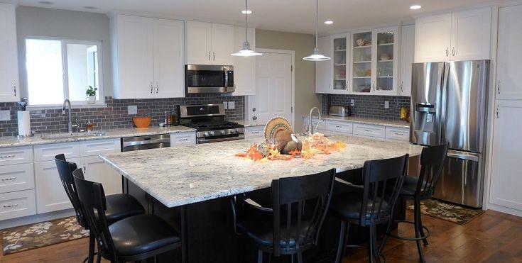 Kitchen Remodel Bianco Romano Granite Countertops And Sollid Cabinetry Accent Interiors