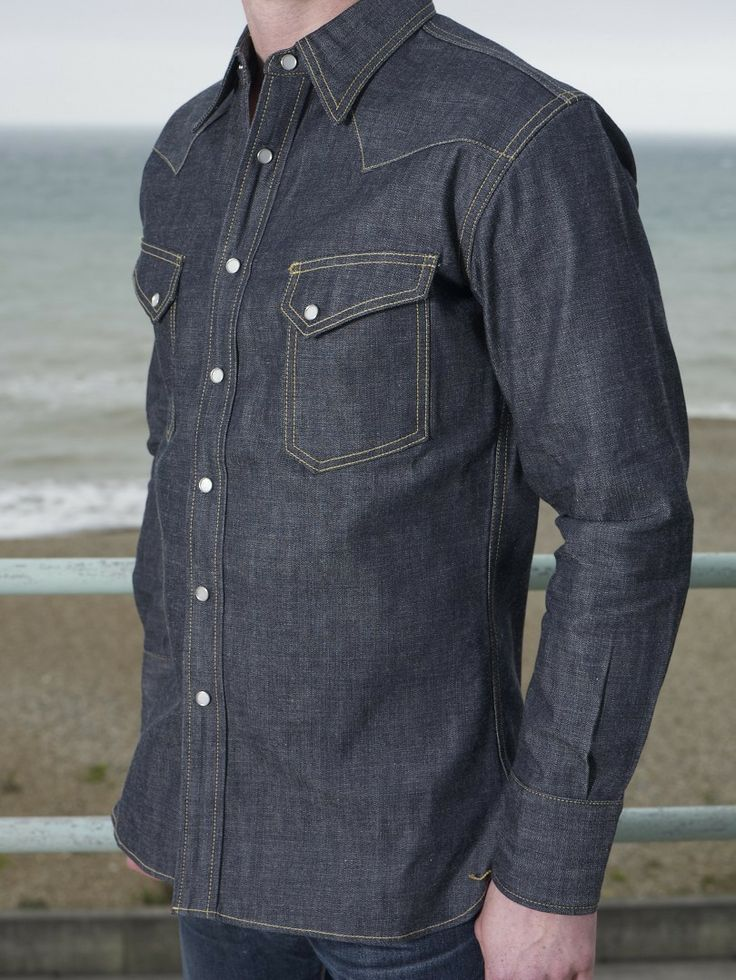 61 best images about raw denim and leather on pinterest for Mens shirts with snaps instead of buttons