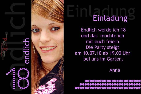 Einladungskarten zum 18. Geburtstag gestalten lassen ab 0,40 Euro  #Einladungskarten #Geburtstag